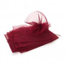 40 x Bouquet Pull Nets - Burgundy