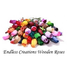 100 Lucky Dip Mix  Wooden Roses