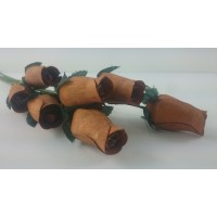 100 Honey Wooden Roses