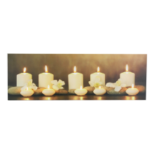 Relaxing Candle LED Canvas