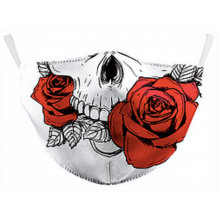 Skull & Roses Face Mask and one filter